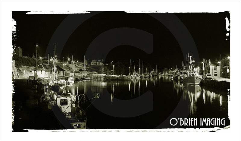 Eyemouth Harbour At Night