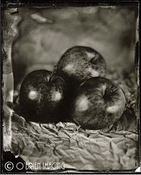 Three apples, An over exposed image but I do like it