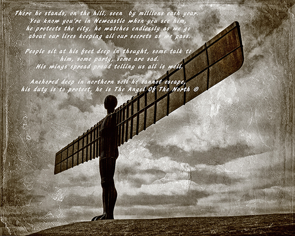The Angel of the North - Imaging & text © Kevin O'Brien