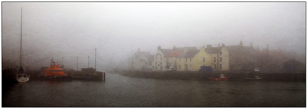 A Haar over Eyemouth Harbour