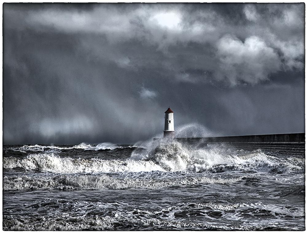 Storm approaching Berwick - upon - Tweed